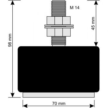 AGRETO Waagenbausatz mit Wiegefüßen bis 4.000 kg