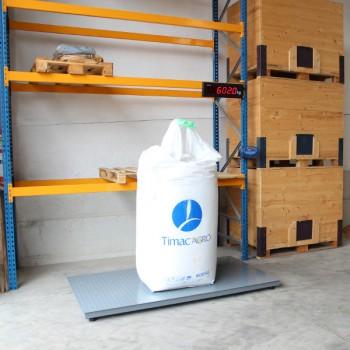 AGRETO weighing platform 1 x 1.2 m with weighing indicator XK3