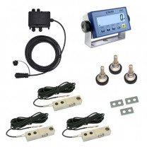 Scale construction kit with shearbeam loadcells, 4x1t, XK3