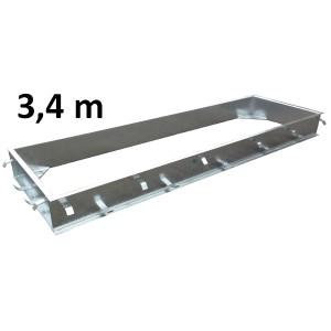 Mounting frame C-profile galvanized 3,4 x 1 m