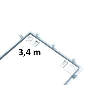 Installation kit for scale foundation 3.4 x 1 m