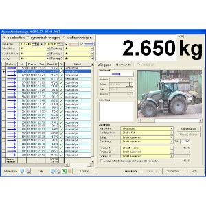 Software control for AGRETO drive-over-scale