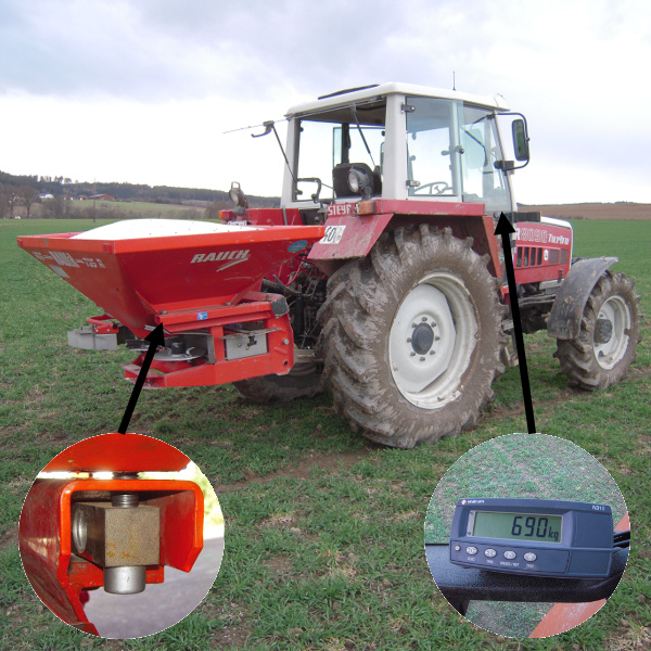 AGRETO scale kit for fertilizer spreaders