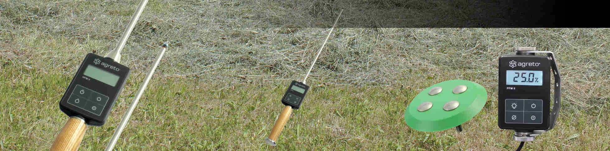 Moisture meters for hay / straw