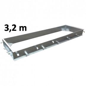 Einbaurahmen C-Profil verzinkt 3,2 x 1m